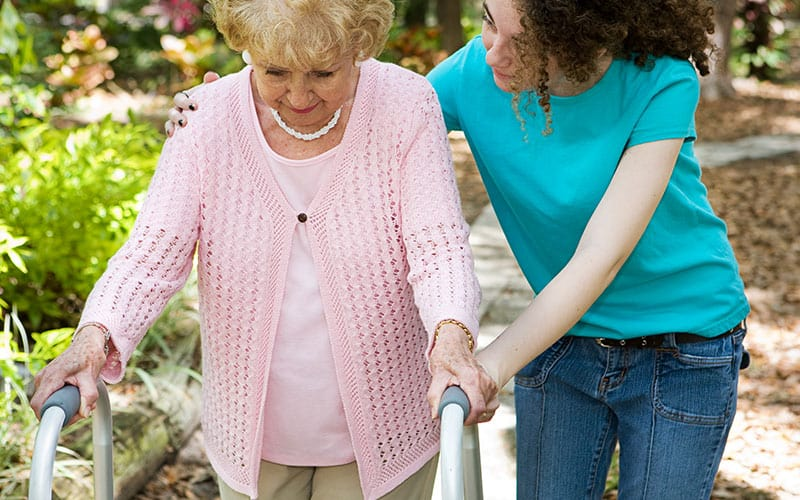 Tall walkers and mobility advice for seniors and grandchildren