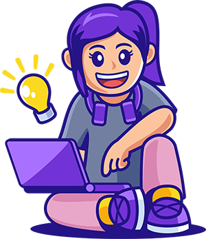 teen using a laptop