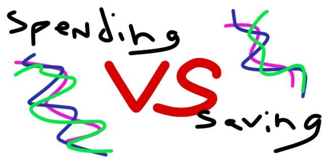 spending vs saving money