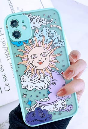 sun and moon phone case for teens